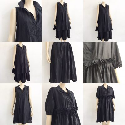black linnen shirt dress